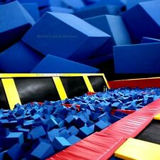 "Foam Pits - Pit Foam Blocks/Cubes 500 pcs (BLUE) 5""x5""x5""  Flame Retardant Foam"