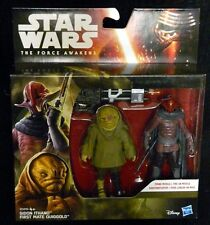 """Star Wars SIDON ITHANO & FIRST MATE QUIGGOLD New! 2-Pack Force Awakens 3.75"""""""