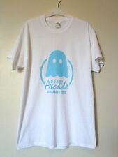 Ghost Arcade Pac Man T-Shirt Regular Size Medium NEW* White/Blue Uk Freepost