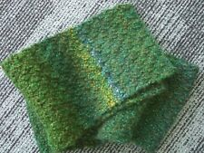 SCARF - HAND KNITTED - GREEN RANDOM MIX WITH A BIT OF SPARKLE - 150cm LONG