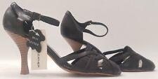 FIORE LEATHER ladies womens black sandals shoes Size 7 EU 40 - NEW