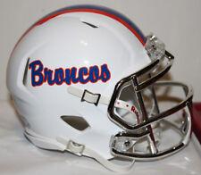 2017 Boise State Broncos Script Logo Custom Riddell Mini Helmet vs Nevada
