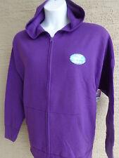 New Just My Size Eco Smart Sweats Zip Front Hooded Sweatshirt 5X Purple