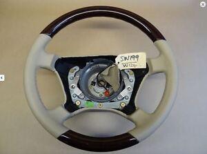 Mercedes Wood Leather Steering Wheels W202 W210 W211 W221 W209 W107 W126 Genuine