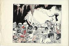 HUMOUR + PRESSE SUPERBE DESSIN ORIGINAL DE LUCIEN LOGÉ SUR FEUILLE ( 1942 )