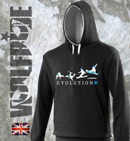 Snowboard design hooded top, warm winter sports hoodie - evolution