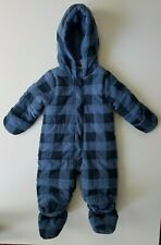 5fe543554 First Impressions Baby Bunting Snowsuit Boy's 6-9 Months Hood Blue Plaid