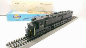 Athearn HO Train Custom 2 LED PRR EMD DD40 Dual Motor Powered Diesel Locomotive