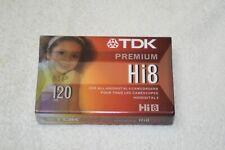 New TDK Premium  Hi-8 * 120 Minutes Video Cassette P6-120HP