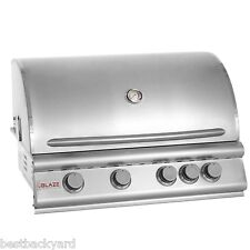 "BLAZE BBQ GRILLS 32"" STAINLESS STEEL 4-BURNER GAS BUILT IN / DROP IN BBQ GRILL"
