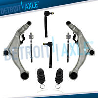 for 2009 - 2014 Maxima Front Lower Control Arm Inner Outer Tierod w/Boot 8pc Kit
