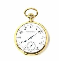 Patek Philippe & Co 18kt Gold Open Face Pocket Watch