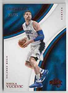 2016-17 Panini Immaculate Collection Base Red Nikola Vucevic 23/25 Orlando Magic