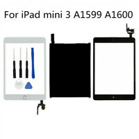 For iPad Mini 3 A1599 A1600 2014 LCD Display+Touch Screen Digitizer Home Button