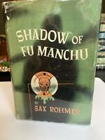 1948 SAX ROHMER SHADOW OF FU MANCHU, DUST JACKET