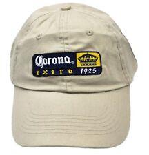 Corona Extra Bier USA Kappe Mütze Baseball Cap Käppi beige Schirmmütze