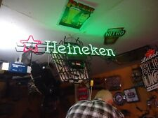 Very Lg Heineken Star Neon Beer Light Bar Sign Big Man Cave Sale Check It Out