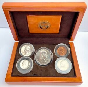 1950 UNCIRCULATED YEAR SET IN OFFICIAL U.S. MINT DISPLAY SILVER BIRTHYEAR COINS