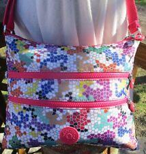 KIPLING ALVAR  Crossbody Bag Colorful Mosaic Purse 2 Zip Compartments