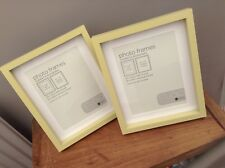 """NEW NEXT Set of 2 Studio Lime Green Desk Photo Picture Frame 8"""" x 6"""" 10"""" x 8"""" ."""