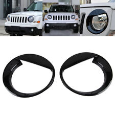 2X Angry Bird style Front Head Light Lamp Cover Trim for Jeep Patriot 2011-2016