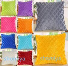 "17"" Soft Luxury Plain Cushion Cover Multi Colours Pillow Case Home Decor UK New"