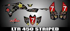 SUZUKI LTR 450 QUADRACER  SEMI CUSTOM GRAPHICS KIT STRIPER