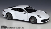 Welly 1:24 Porsche 911 Carrera 4S White Diecast Model Sports Racing Car NIB