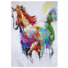 Vibrant Water colour Horse Canvas Ready To Hang Canvas 70 x 50cm