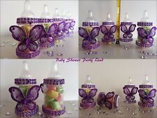 Baby Shower 12 Purple Fillable Butterfly Bottles Favors Prizes Girl Decorations