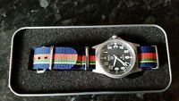 IMPROVED MWC G10 50m with crows foot  watch + Royal Marine strap, Bootneck RM