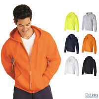 Gildan Mens DryBlend Hooded Full-Zip Hoodie Classic Zipper Sweatshirt - 12600
