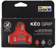 LOOK KEO GRIP Road Pedal Cleats 9° Red Fits Classic, 2 Max Blade & BL. Carbon