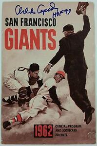 ORLANDO CEPEDA Signed 1962 Official Program + Scorecard SF Giants w/ PSA/DNA COA
