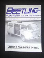 BEETLING VOLKSWAGEN MAGAZINE 248 DEC 1978 NEWS SPORT TUNING MAINTENANCE