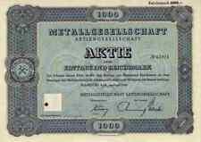 Metallgesellschaft 1942 GEA Bochum Köln Duisburg 1000 RM Historische Wertpapiere
