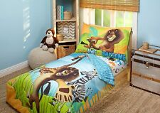 Disney Madagascar 4pc Toddler or Crib Bedding Comforter Sheet Bed Set