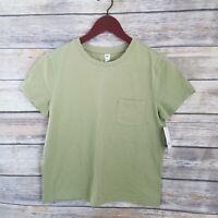 BP Nordstrom NWT Size S Pocket Tee Crew Neck Green Short Sleeve Womens