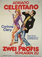 Zwei Profis schlagen zu ADRIANO CELENTANO, CORINNE CLERY 1976- Filmplakat DIN A1