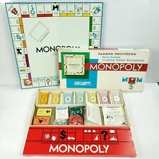 Vintage 1961 Monopoly 100% Complete WITH Instructions + SHORT Game Rules