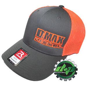 Duramax diesel Richardson 110 DMAX truck hat Flex fit grey ORANGE mesh back L/XL