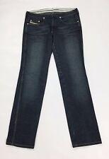 Diesel stripp jeans stretch W28 L32 tg 42 blu straight slim usato donna T2111