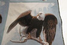 American Bald Eagle Bird Perching on Branch Tapestry Fabric Pillow top 2 Panels