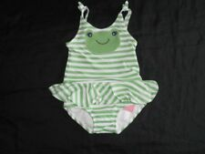 NWT Gymboree FLOWER SHOWERS Green Stripe FROG Skirted Swimsuit  2T Diaper Cover