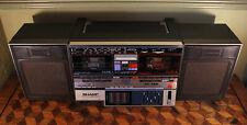 Working Vintage 1980s Sharp GF-780 Boombox Portable Tape Radio Ghetto Blaster