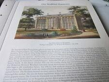 Hannover Archiv Stadtbild 56 Palmenhaus im Berggarten 1858 Wilhelm Kretschmer