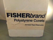 100 Scientific Cuvets polystyrene 10x10x45mm 4.5m capacity Fisher Brand Italy