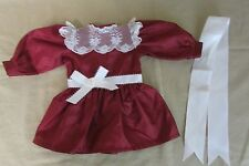 """American Girl SAMANTHA Christmas Outfit Party Dress w/ Ribbon fits 18"""" Doll"""