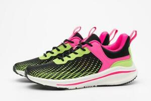 Beck & Hersey Women Deluxe Trainers Green/Hot Pink