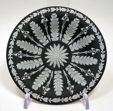 Antique Pre-1891 WEDGWOOD Jasperware BLACK DIP Small DISH or Shallow BOWL